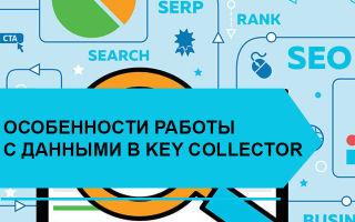 Особенности работы с данными в Key Collector