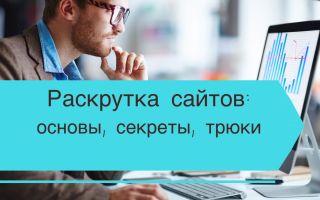Раскрутка сайтов — основы, секреты, трюки