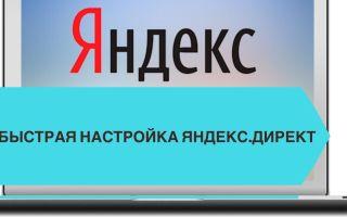 Быстрая настройка Яндекс.Директ