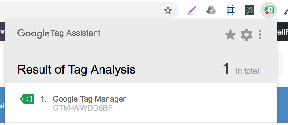 Проверка Tag Manager